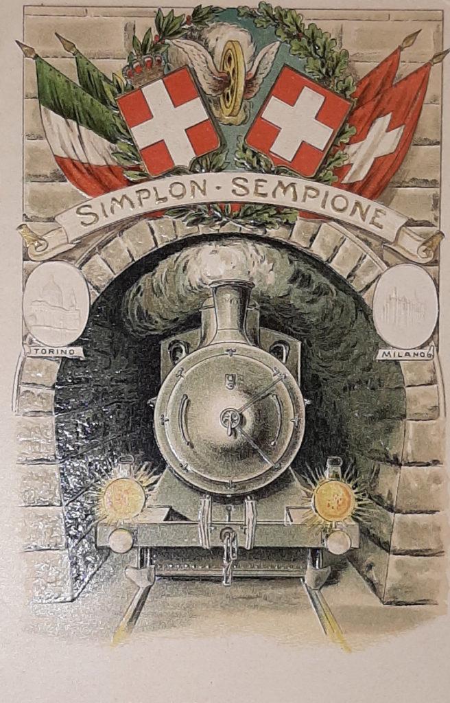 Cartolina tunnel Sempione copia 2 L'epopea dei trafurett