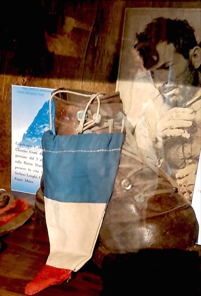 Lo scarpone di Herzog al Museo della montagna e del contrabbando di Macugnaga
