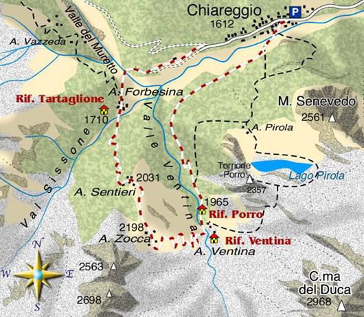 Escursione ad anello in Val Malenco