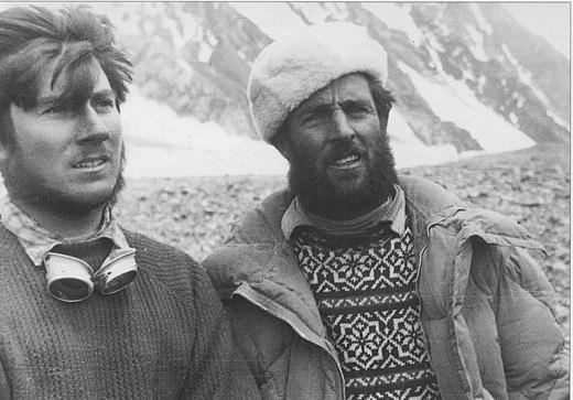 Erich Abram con Walter Bonatti