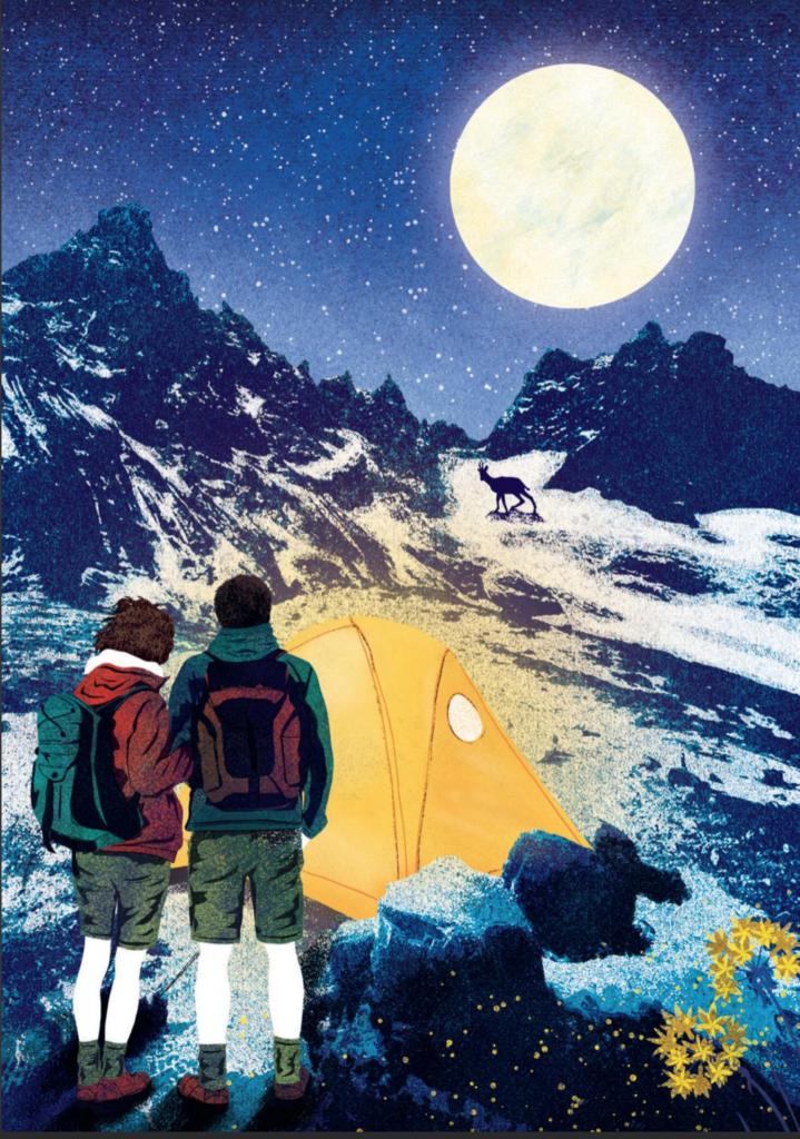 Irene Borgna, Sulle Alpi, Editoriale Scienza. Illustrazione di Susy Zanella.