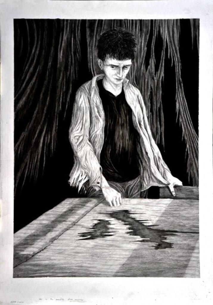 Disegno di Andrea Petrucci: Dentro Celine
