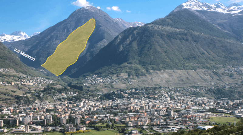 Sondrio - Valtellina - frana di Spriana - bypass di Spriana