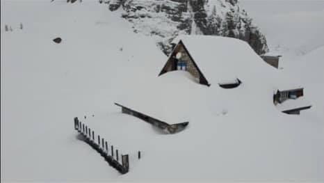 Rifugio Gilberti neve