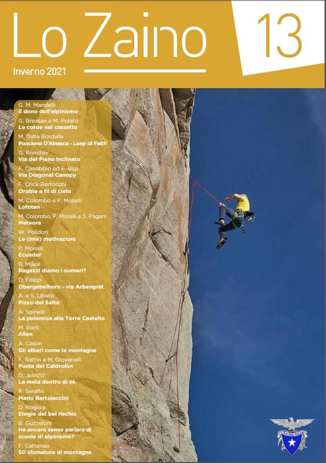 Ne Lo zaino numero 13 ci si chiede il perché dell'alpinismo