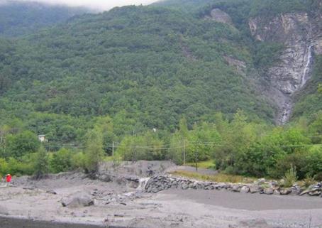 temporali in montagna colate detritiche