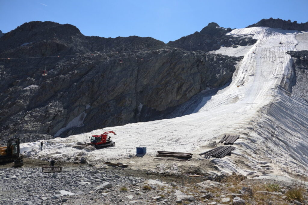 ghiacciai artificiali ghiacciai morenti Presena Baccolo
